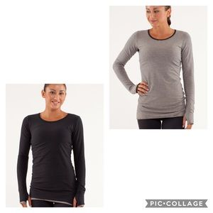 Lululemon every yogi reversible long sleeve shirt